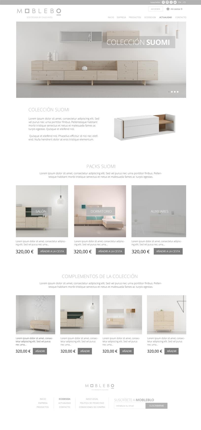 Tienda WooCommerce mobiliario a medida