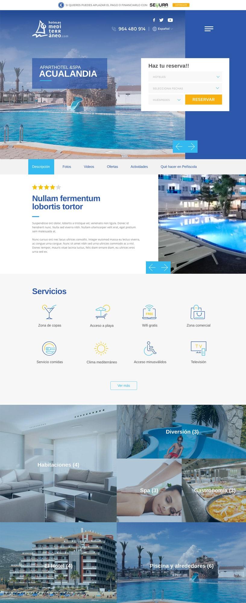WordPress Hoteles Castellón