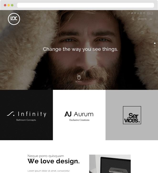 Página web WordPress baños y complementos