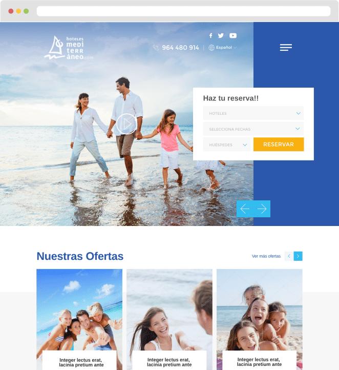 Página web WordPress hotel