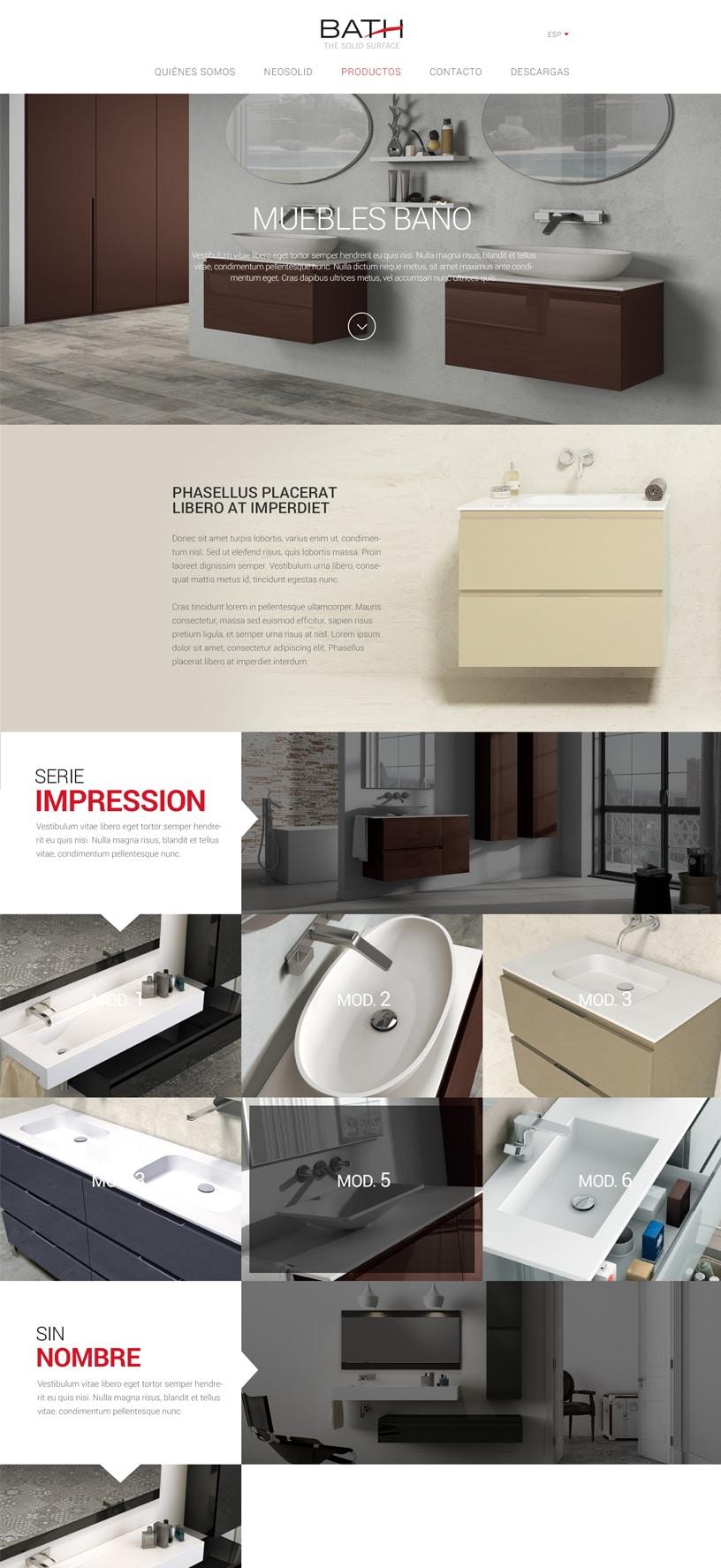 Diseño web equipamiento baño Castellón