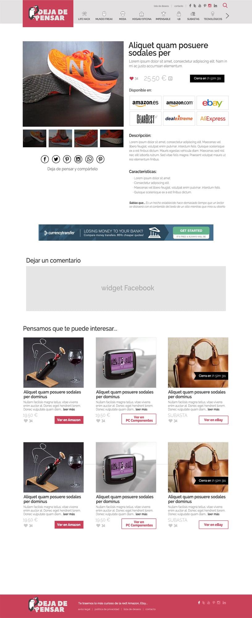 Diseño WordPress blog