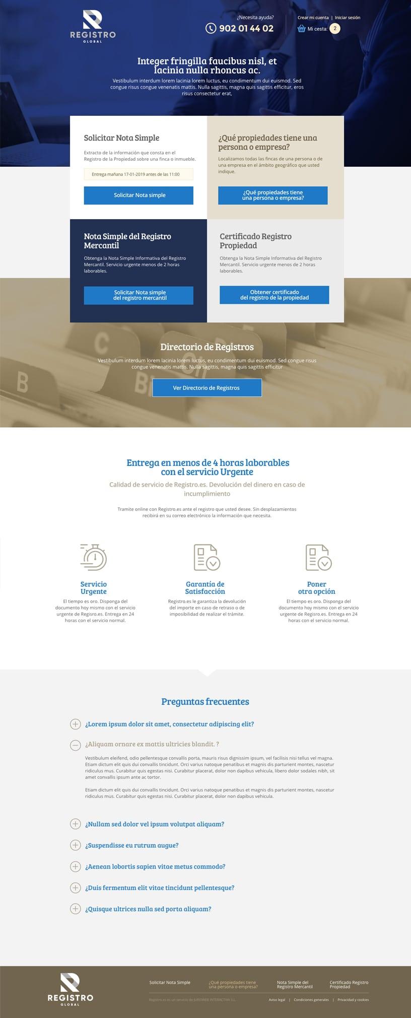 Servicio online documentación fincas y propiedades