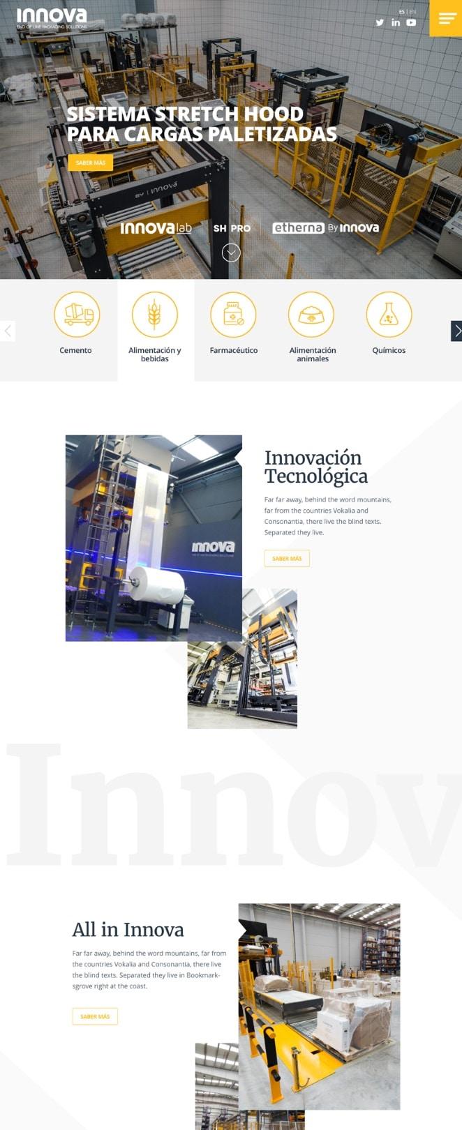Campañas marketing digital Innova Maquinaria